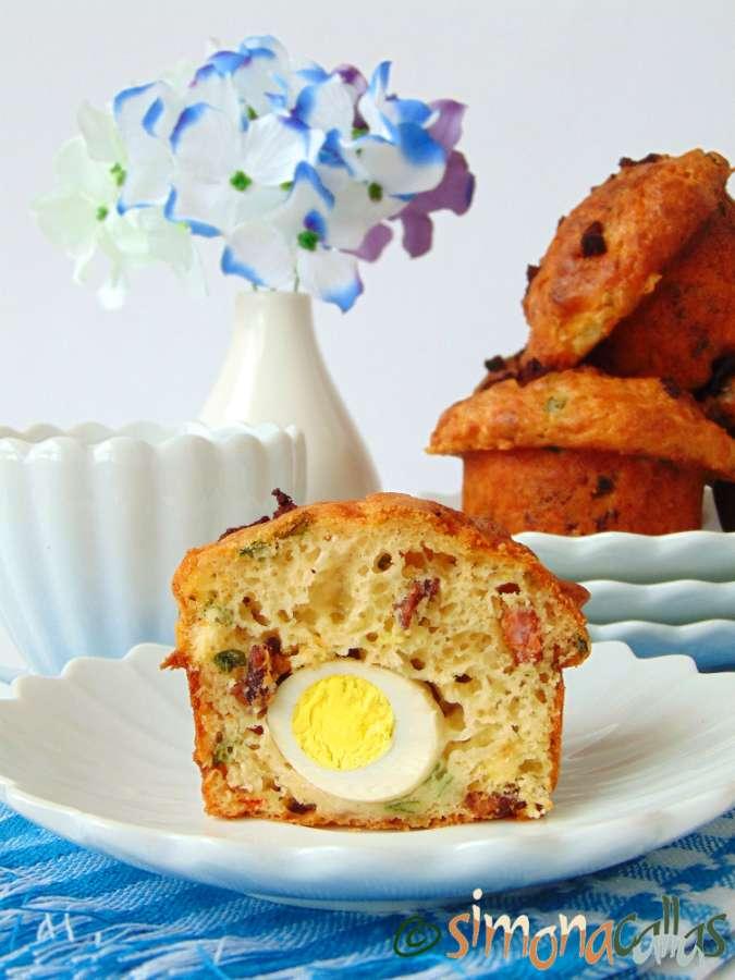 Briose aperitiv cu oua de prepelita