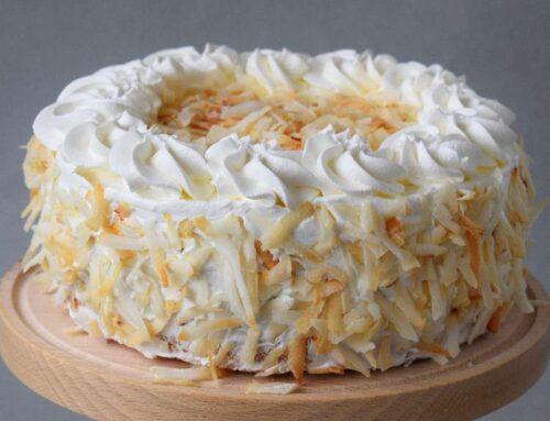 Coconut Cake with Vanilla and Chocolate recipe