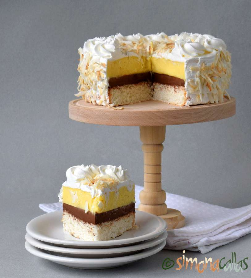 Coconut Cake with Vanilla and Chocolate