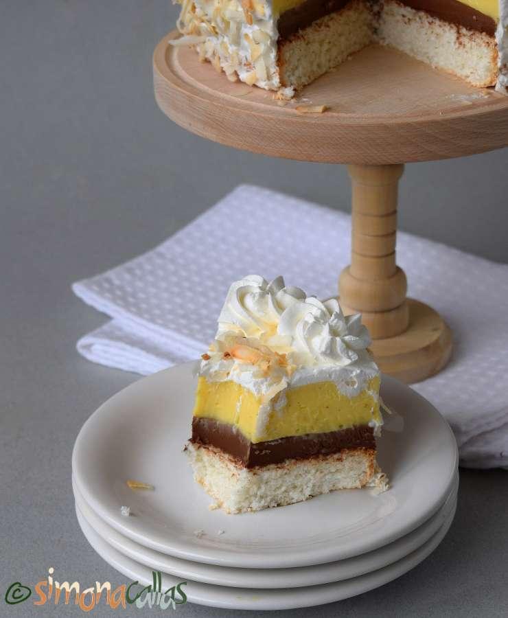 Coconut Cake With Vanilla And Chocolate Recipe Simonacallas