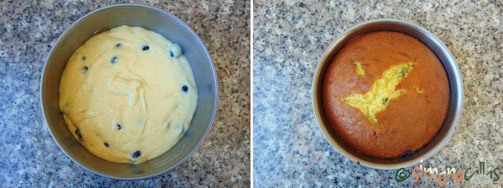 Tort cu lamaie si afine