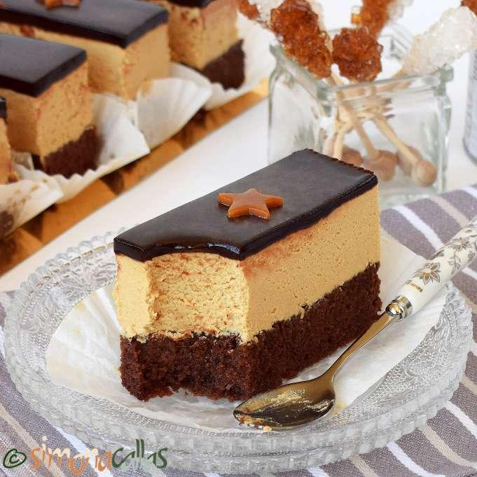 Prajitura caramel de cofetarie
