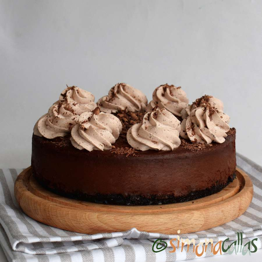 Cheesecake de ciocolata – cheesecake copt delicios