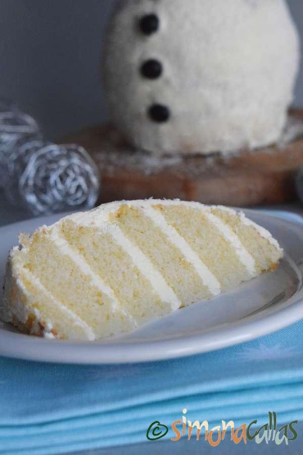 Tort Om de Zapada Tort alb cu crema de lamaie