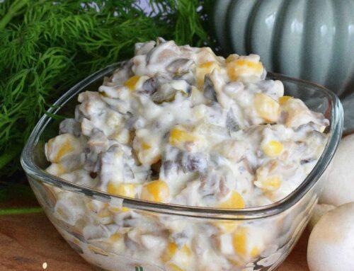 Salata de ciuperci cu maioneza – un aperitiv festiv si rapid