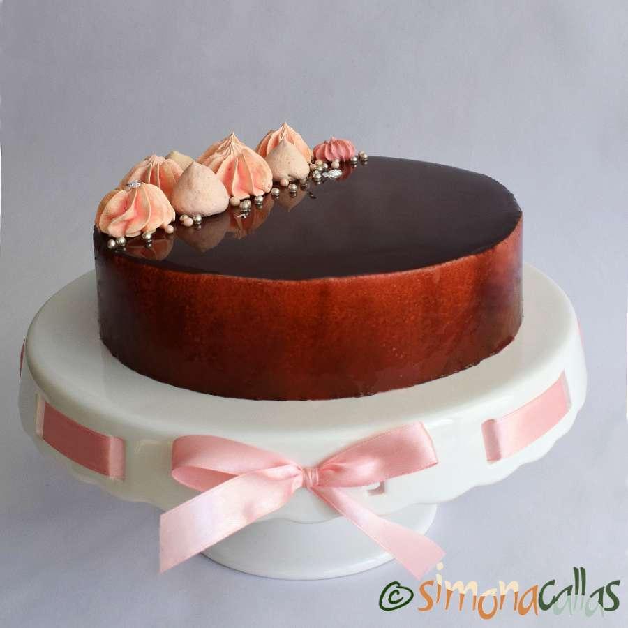 Tort Entremet cu ciocolata si visine simplu si rafinat