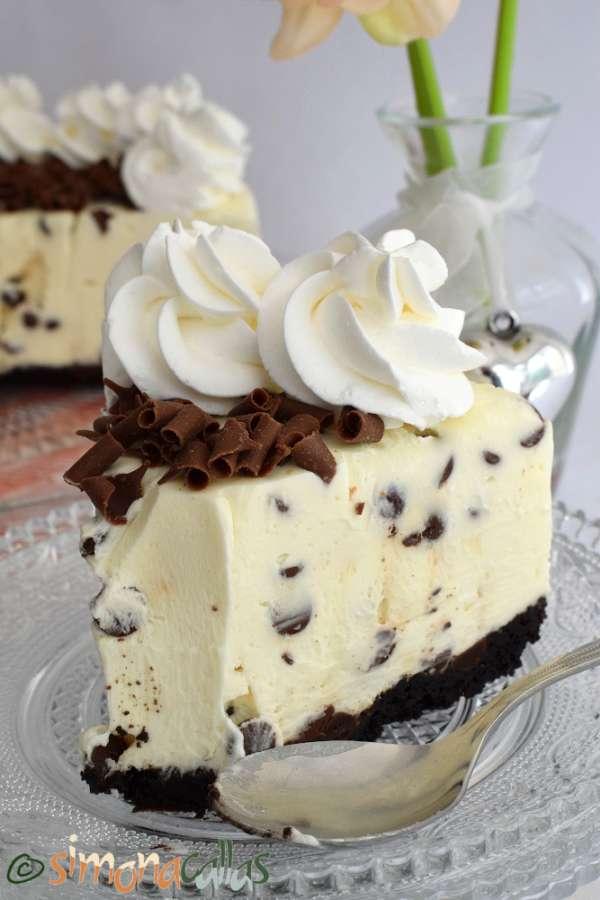 No Bake Chocolate Chip Cheesecake