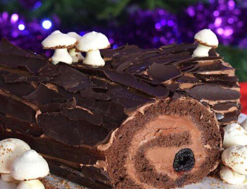 Tort Buturuga de Craciun – trunchi de copac