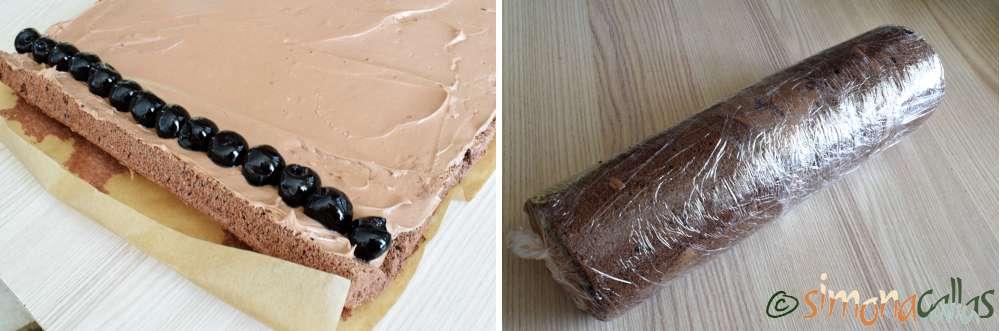 Rulada cu ciocolata si cirese