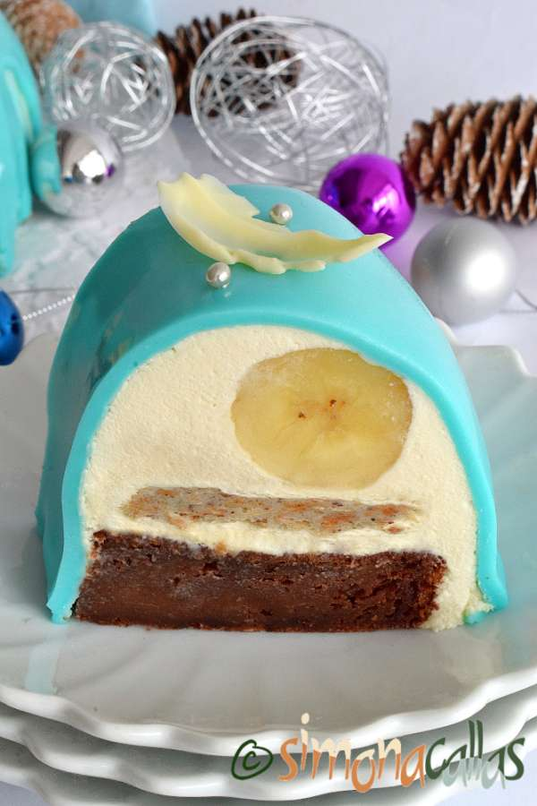 Tort Entremet cu ciocolata si banane