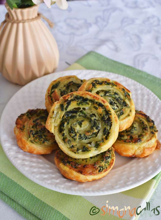 Spirale aperitiv cu spanac si branza