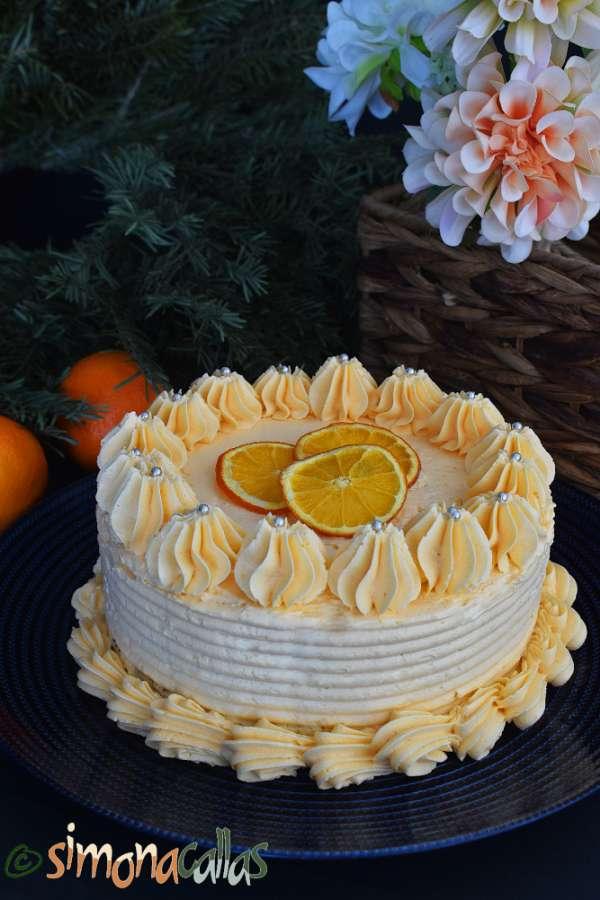Tort cu nuci si portocale