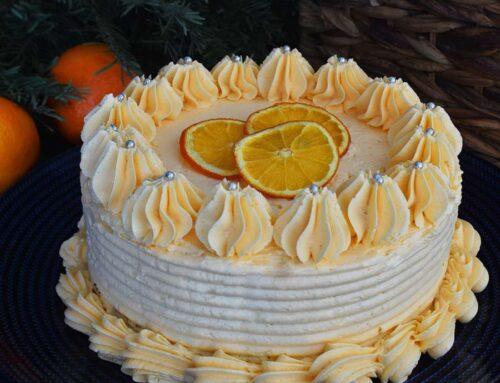 Tort cu nuci si portocale festiv de sezon