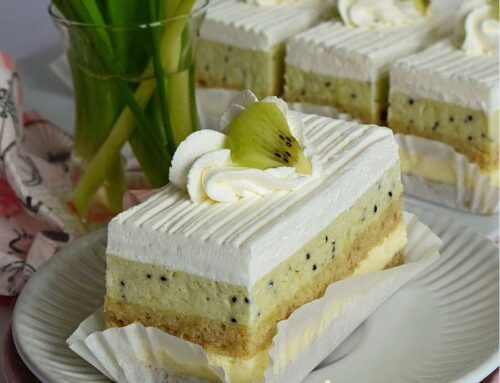 Prajitura Totul va fi bine – Entremet cu banane si kiwi