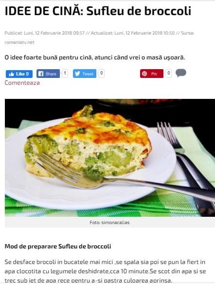 Sufleu de broccoli