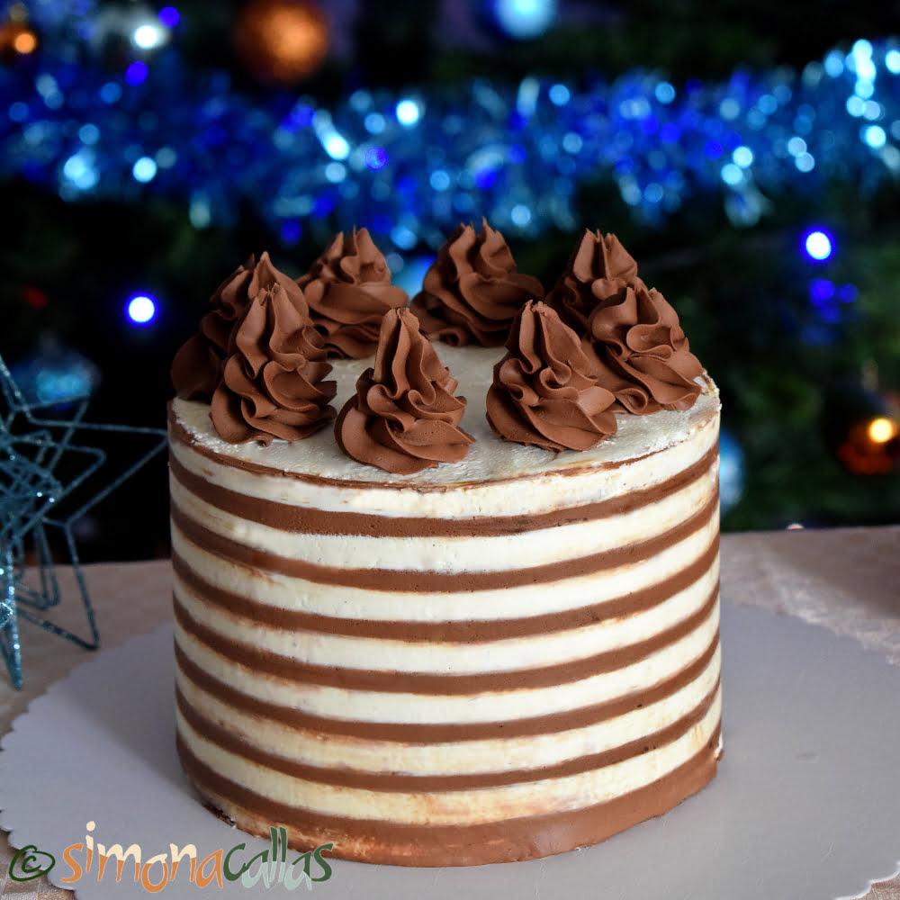 Tort festiv cu ciocolata si cafea