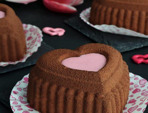 Prajitura inima cu ciocolata si cirese