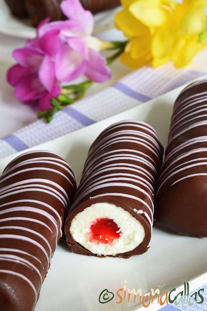 Batoane cu ciocolata branza si zmeura