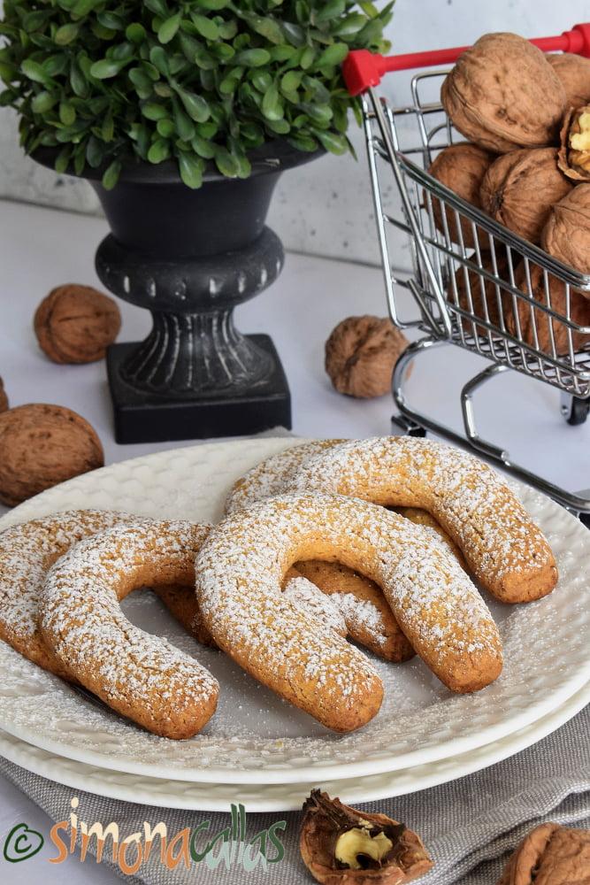 Biscuiti de post cu nucă fursecuri fragede